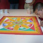 Sand Mandala Ganden Monk