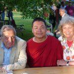His Eminence Khyungser Trichen Rinpoche with Mayor Leopold Guggenberger from Klagenfurt