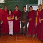Kyabje Khyungser Trichen Rinpoche with Monks of Gaden Monastery