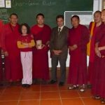 Kyabje Khyungser Trichen Rinpoche with Monks of Gaden Monastery